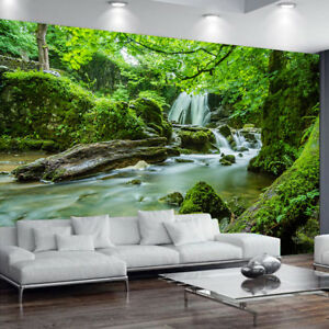 3d forest tree plants water stream wallpaper mural photo bedroomimage is loading 3d forest tree plants water stream wallpaper mural