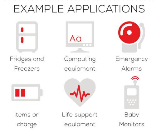 Rouge /& Blanc Switchbubble Power Protecteurs-Garder les choses importantes allumés