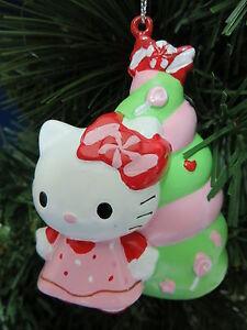 Hello Kitty Christmas Tree Ornament New Sanrio Holiday Gift Stocking ...
