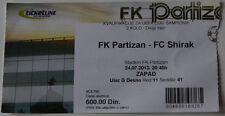old TICKET CL Partizan Beograd Serbia Shirak Gyumri Armenia