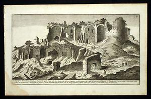 Rome Roma Monte Palatino Mont Palatin Gravure De 1773