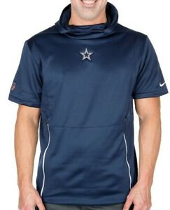 outlet store f3cd1 37ff4 Details about New Nike Men's Dallas Cowboys Football Fly Short Sleeve  Performance Hoodie NWT