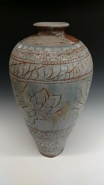 Hand Made Ceramic Tuscan Vase Green Vases Home Decor Small For Sale Online