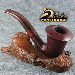 BALANDIS original Sandblasted tobacco smoking pipe Briar Handmade CALABASH RUBIN