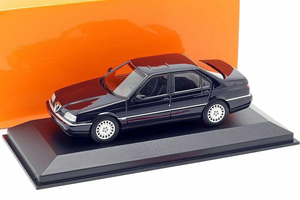 ALFA ROMEO 164 3.0 V6 SUPER DARK blu 1992 143 Minichamps 940120700