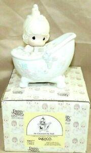 "PRECIOUS MOMENTS by Enesco 1985 Piece 100277 Collectible 5.5"" Porcelain Figurine"