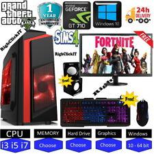 ULTRA FAST  i5-4th Gen i7 Gaming PC Computer PC 2TB 16GB RAM GTX 1660 Win10