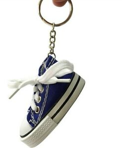 519a8a5de17b8 Details about Black canvas mini hi top sneaker tennis shoe key chain sport  cute souvenir gift