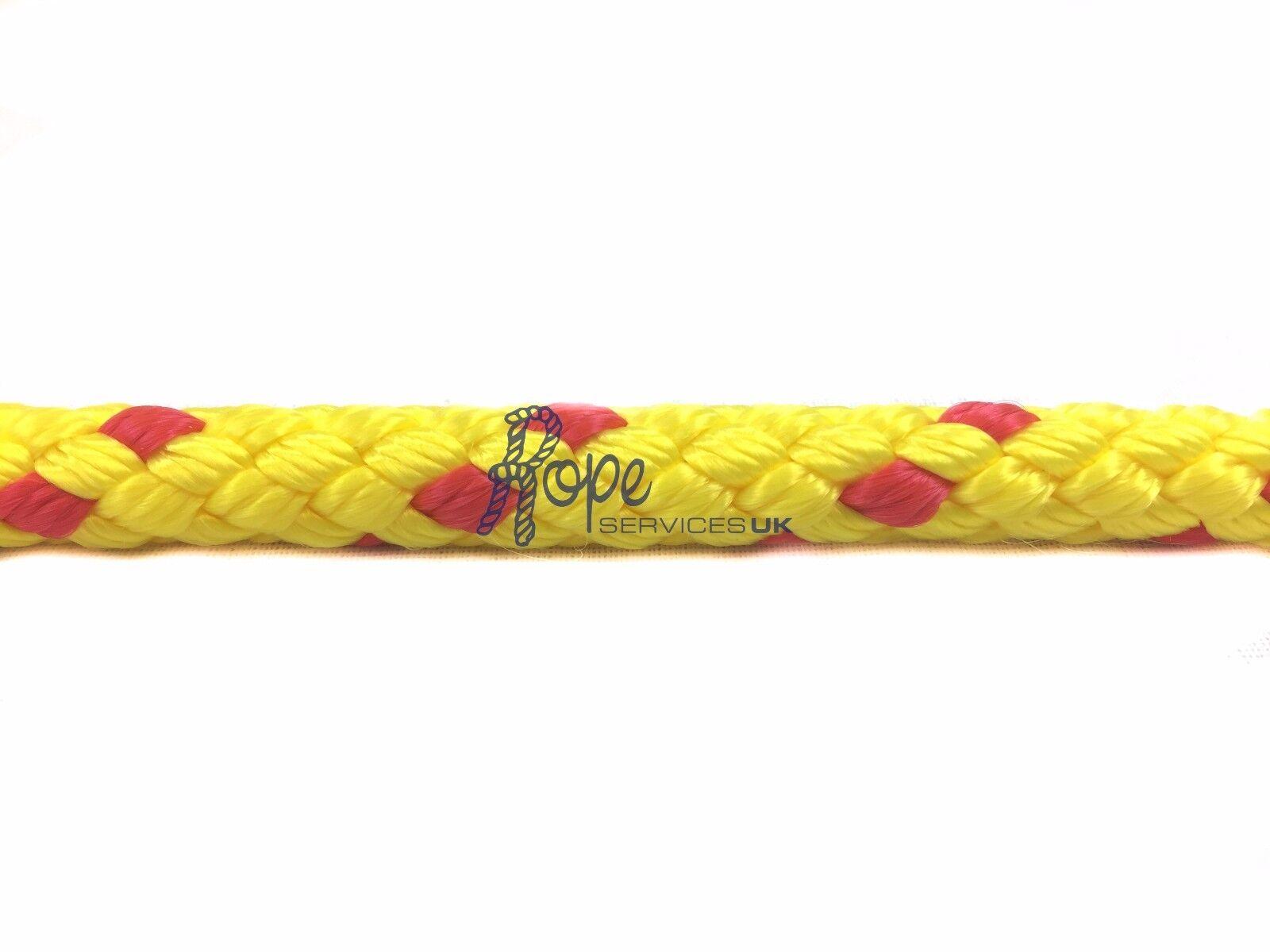 12mm gelb & Rot schwimmende schwimmende schwimmende Sicherheit leben Line Boje Seil x 50 Meter Rolle 0212bf