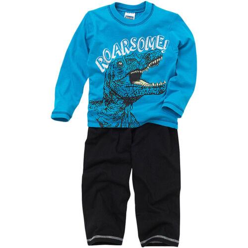 Long Printed Pyjamas Blue 2-6 yrs Bedlam Younger Boys T-Rex Dinosaur Roarsome