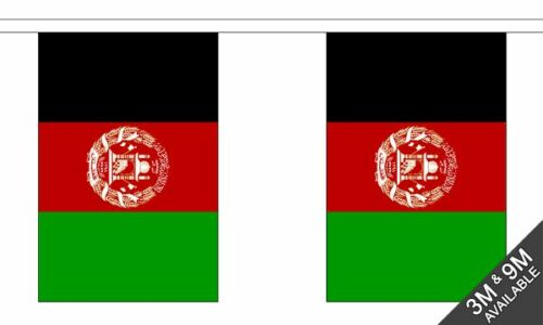 10 flags Afghanistan New Design National Bunting 3 metre