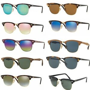 Image is loading Sunglasses-Ray-Ban-rb-3016-Clubmaster-classics-polarized- f1d26a87d3cd