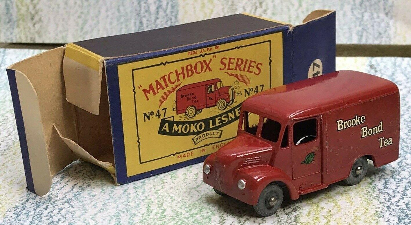 Matchbox Moko Lesney   47a Brooke Bond Tea troyano 1 Ton van nminvgb 4GMW (cd)