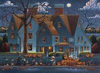 Dowdle Folk Art Collectors Jigsaw Puzzle House Of Seven Gables 1000 Pc Halloween
