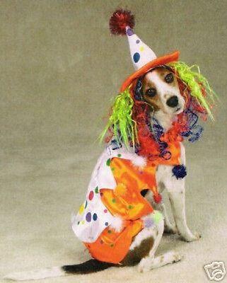 zack u0026 zoey class clown dog pet halloween costume xs s m l xl