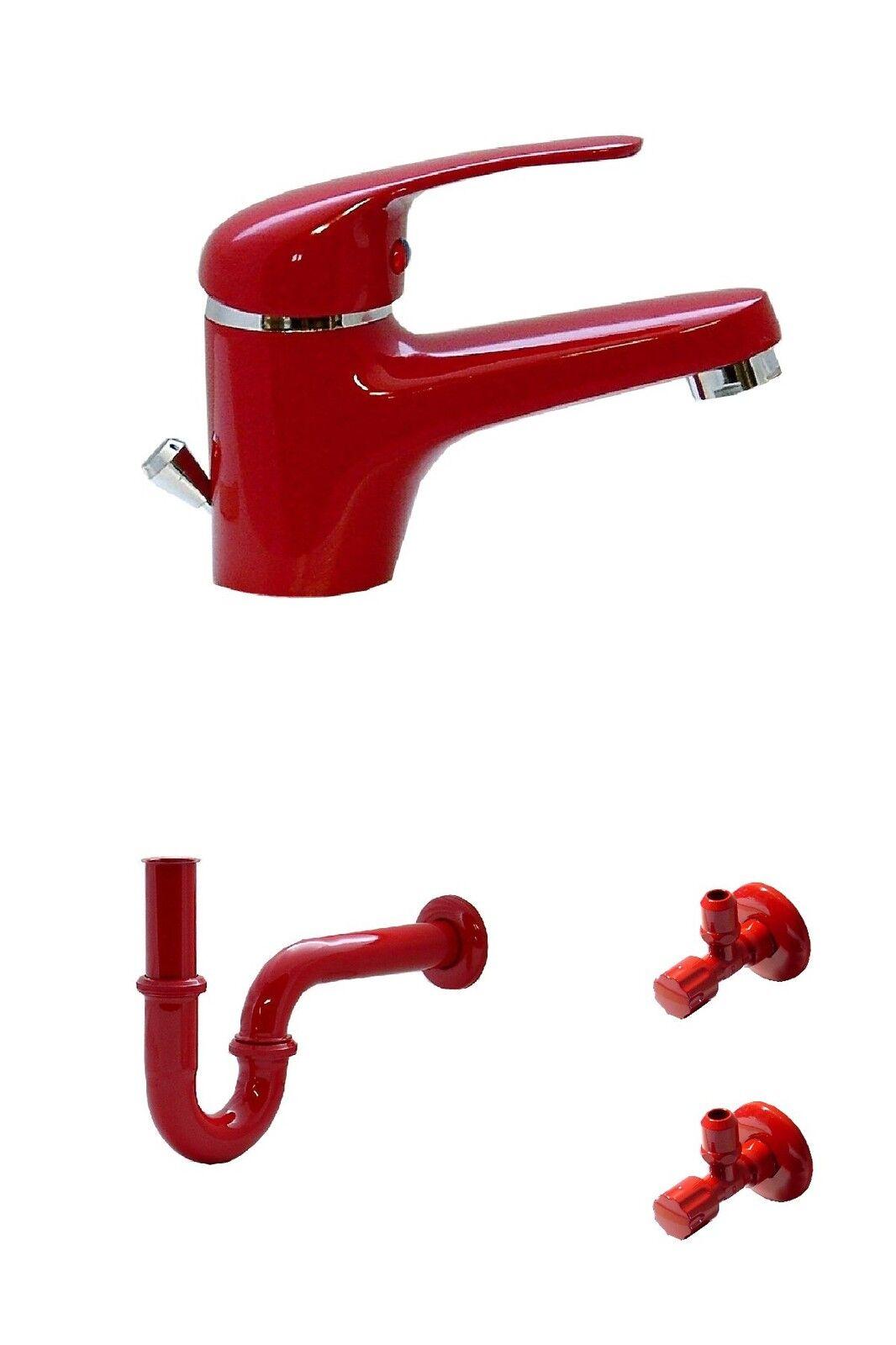 Lavabo Baño Grifo Agua Grifería Sifón 2 Válvulas de Esquina