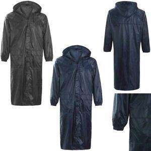 Long-Plain-Waterproof-Rain-Coat-Cagoule-Trench-Coats-Full-Length-Raincoat-S-XXL