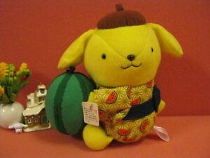 Sanrio PomPomPurin Water Melon Purin in Kimono Plush Doll Soft Toy @2003