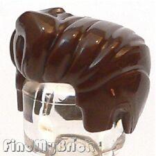 G027B Lego Hair Ghostbusters Ecto-1 Dr. Egon Spengler - Dark Brown 21108 NEW