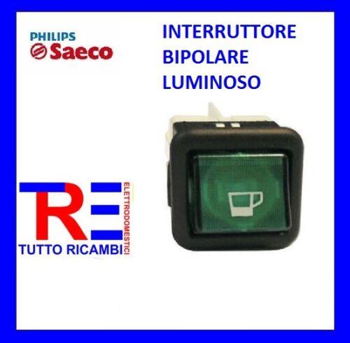 INTERRUTTORE BIPOLARE LUMINOSO MACCHINA DEL CAFFE/' SAECO VIA VENETO