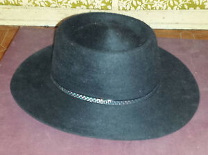 06ff20e9b9c1ee Image is loading Beaver-Creek-Fur-Felt-Black-Cowboy-Western-Rodeo-