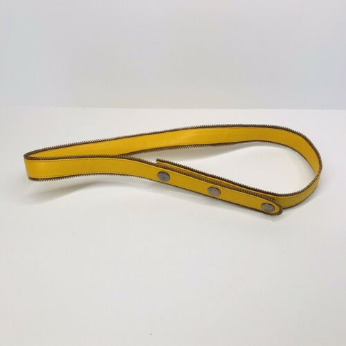 Edgy Yellow Genuine Leather Waist Belt