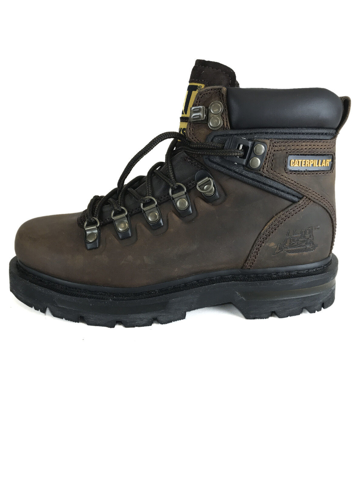 Caterpillar Cabot Vintage Leather Mid botas Dark marrón and negro