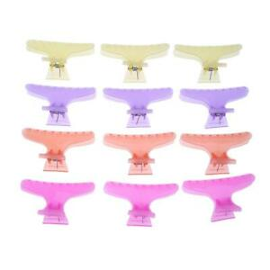 12pcs-Set-Salon-Hairdressing-Butterfly-Clips-4-Colors-Hairpin-Styling-Tool-UK