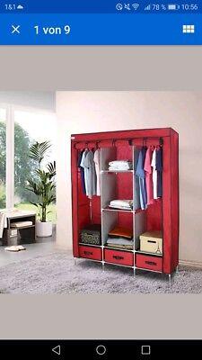 Armoires & Wardrobes Tireless Tragbar Kleiderschrank Faltschrank Stoffschrank Garderobe Schrank W/3schubladen Bright In Colour