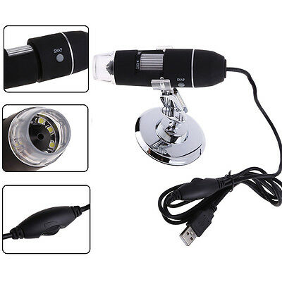 New 4X- 800X 2MP USB 8 LED Light Digital Microscope Endoscope Camera Magnifier #