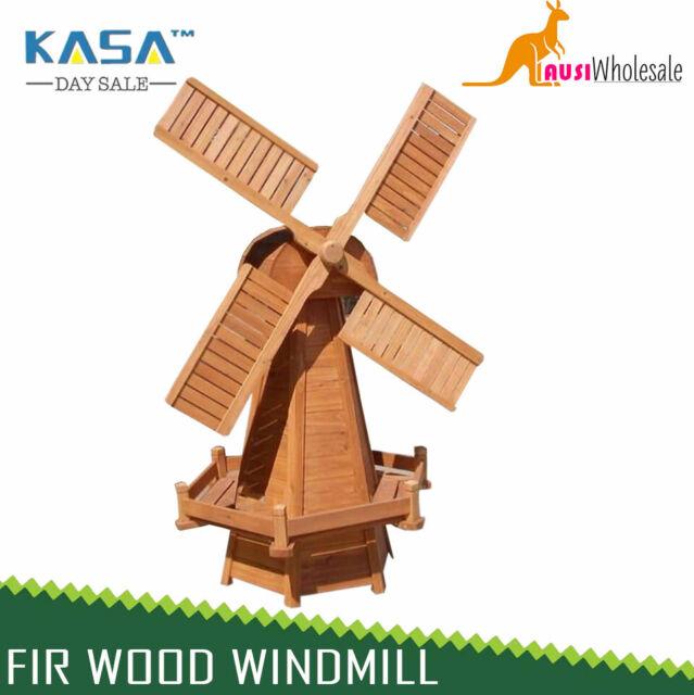 FIR WOOD WINDMILL ORNAMENT LARGE DECORATIVE GARDEN STATUE 1520mm High