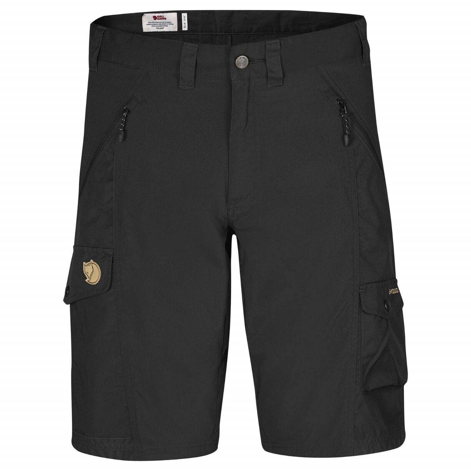 Laderas räven Abisko shorts Men negro técnicos elásticos señores Shorts
