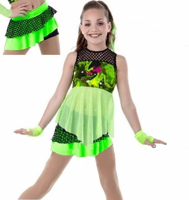 a2f39e638 Child Extra Small Lime Jazz Dance Costume Skirt How We Roll for sale ...