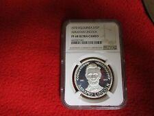 1970 Equatorial Guinea .999 Silver Coin  NGC PR68 President Abraham Lincoln