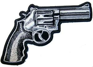 PROUD AMERICAN GUN OWNER new EMBROIDERED PATCH REVOLVER iron-on 2nd AMENDMENT