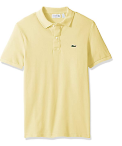 8740f2fb0 Lacoste Men s Classic Pique Slim Fit Short Sleeve Polo Shirt