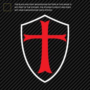 Multi Color Knight S Templar Shield Sticker Die Cut Decal