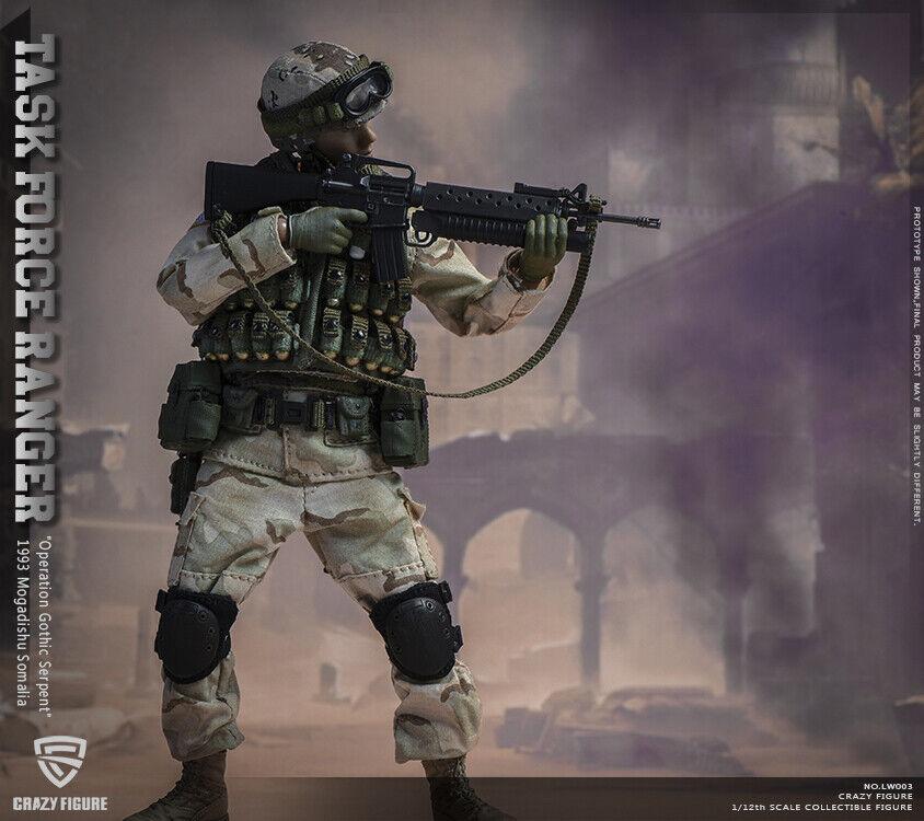 Crazy figura LW003 1 12 Us Army Rangers regimiento Granadero Figura de Acción 75th