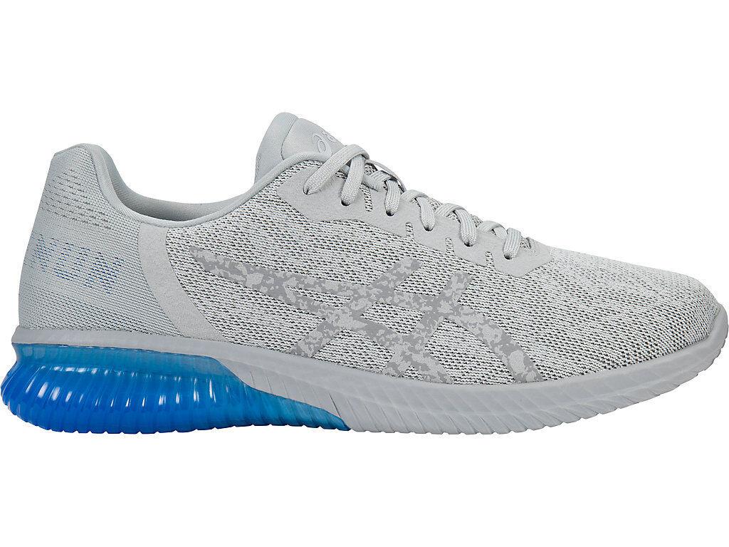 Asics Gel-Kenun Glacier Grey/Electric Blue Running Shoes T7C4N  Sz. 10.5