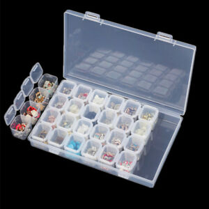 online retailer d5135 4ea60 Details about Plastic 28 Slots Adjustable Cell Phone Repair Screws Beads  Storage Box Organizer