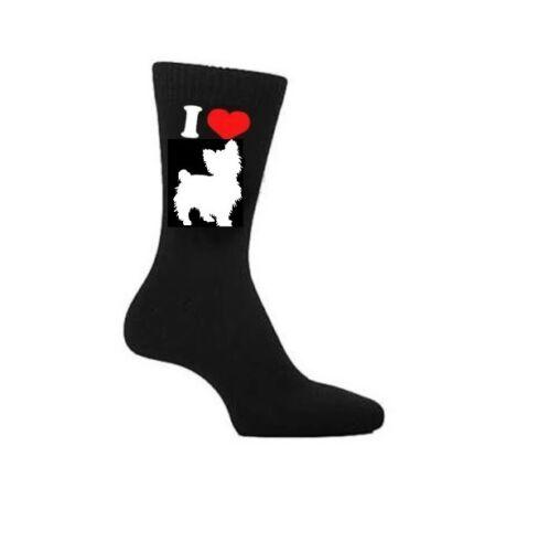 I Love Yorkshire Terrier Hund Socken Yorkie Eigentümer Socken Neuheit Geschenk