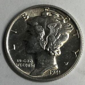 Choice BU+FSB 1941-S Mercury Dime Uncertified