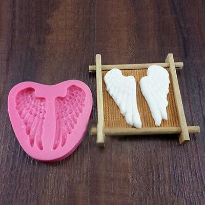 Stylish Silicone Fairy Wings Baker Sugar Embossing Craft Mould Maker Pastry Tool