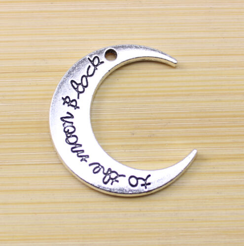 wholesale 6//12//25 pcs wholesale:Retro Style Very beautif moon Charm pendant