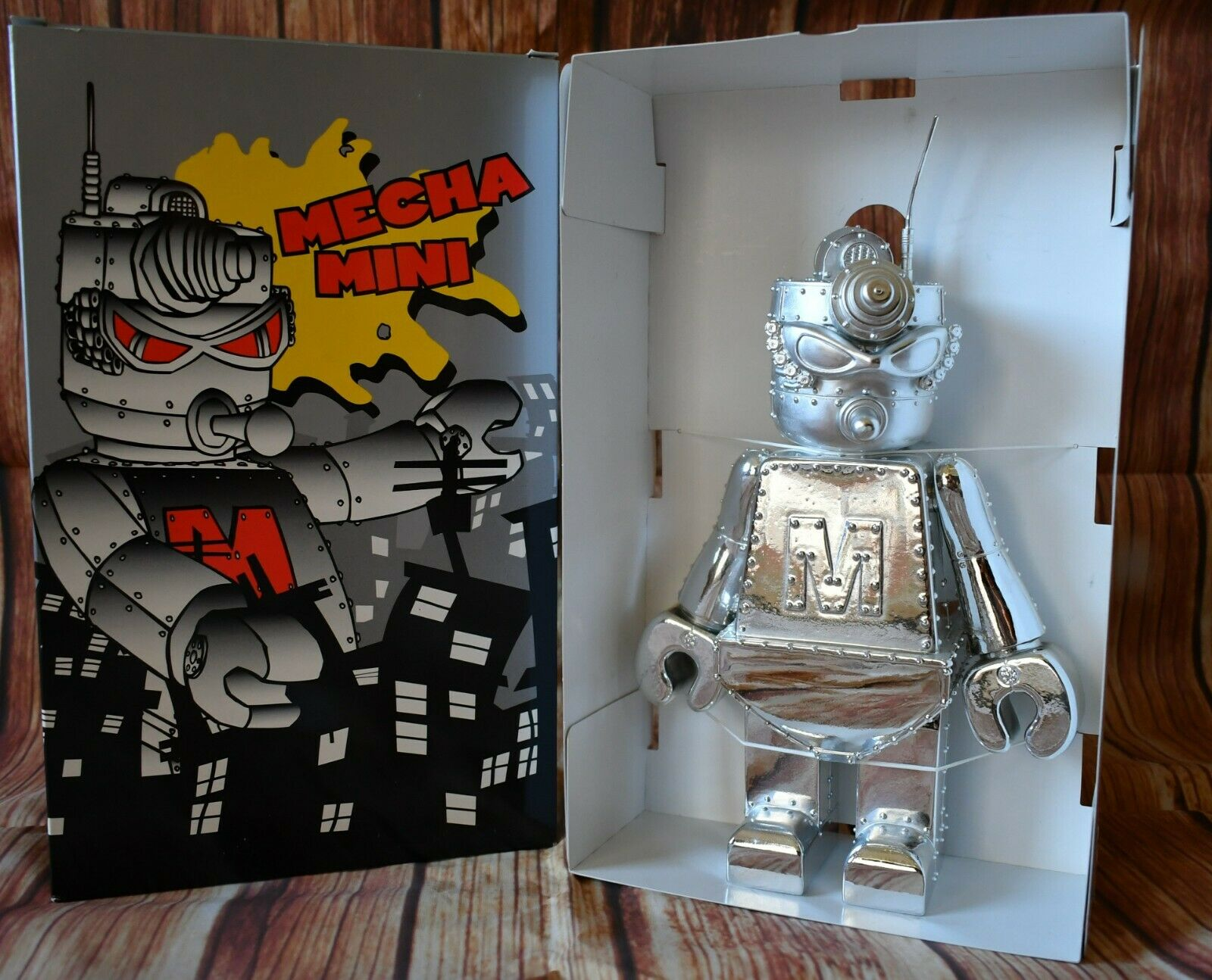 Frank Kozik Mecha Mini Robot Chrome 10   Vinyl Figure