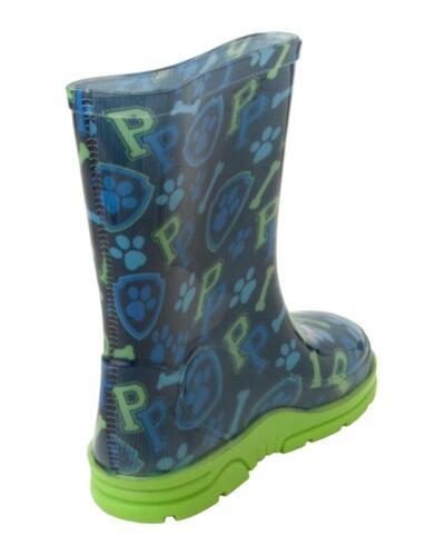 BOYS OFFICIAL PAW PATROL WELLIES BLUE WELLINGTON RAIN SNOW BOOTS UK SIZE 5-10