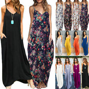 Plus-Size-Womens-Boho-Long-Maxi-Dress-Holiday-Party-Casual-Summer-Beach-Sundress
