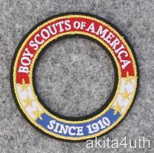 "Boy, Cub, Webelo, Venturing Scouts World Crest Ring Patch ""Since 1910"" BSA"