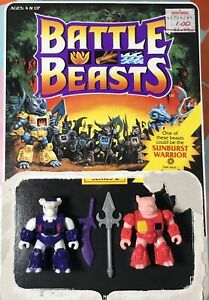 Battle-Beasts-Series-2-Bodacious-Bovine-68-amp-Pillager-Pig-62-W-Weapons-amp-Rubs