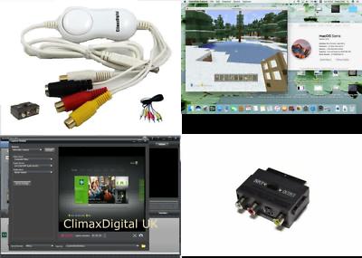 Hartig Climaxdigital Vcap800 Vhs & Camcorder Usb Video Capture Kit For Mac Osx & Window Fijne Kwaliteit